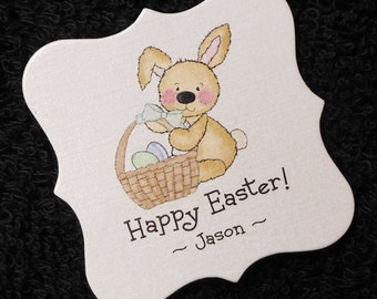 Easter gift tags etsy personalized easter gift tags candy tags bunny with easter basket set of 20 negle Choice Image