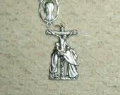 John and Mary at Cross Rosary Center Crucifix Set Rosary Making Parts Supplies