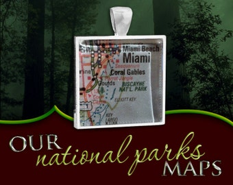 Biscayne National Park Map Pendant