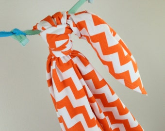 Riley Blake Orange Chevron Baby Swaddling Blanket--LARGE