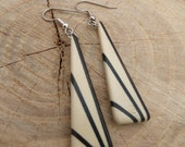 Deco Inspired Earrings - Holly and Ebony