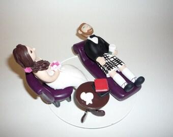 Personalised bride and groom wedding cake topper sample figurine photos