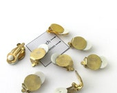 Gold Metal 12mm Pad Earrings Clip On, Set of 8 (4 pairs), 1023-17