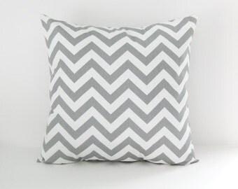 Chevron Pillow Cover Gray Striped Pillow Decorative Pillow Grey Chevron Cushion Cover