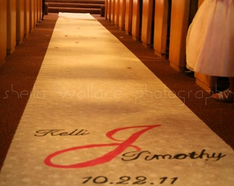 Personalized Hand Painted Customized Wedding Aisle Runner 100 ft