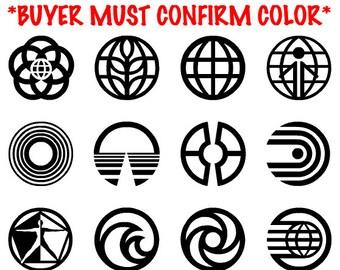 Naruto Symbols Vinyl Stickers Decal - Custom made vinyl decals