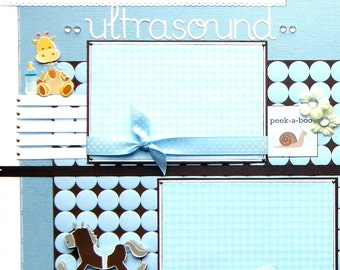 5 custom pre-made 12x12 scrapbook pages