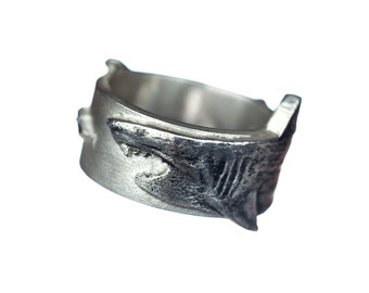 Shark Week Ring Silver Great White Shark Ring Sterling Silver Shark  Sharknado