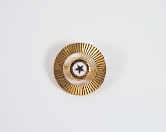 American Legion Auxiliary Enamel Brooch 60s Vintage Jewelry