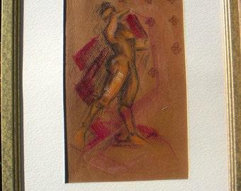 Mid Century Decorative Nude painting