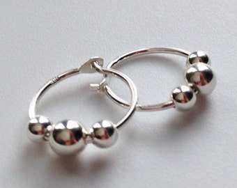 Sterling Silver Hoop Earring, Baby, toddler, child