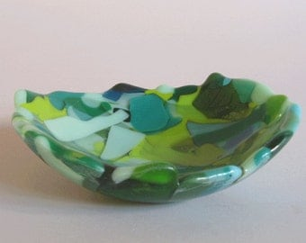 Glass bowl - Fused recycled glass