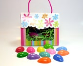 Totin' Eggs One Dozen Easter Eggs FaT CrAYoNs by DuSTy MoOn in Spring Flowers Tote