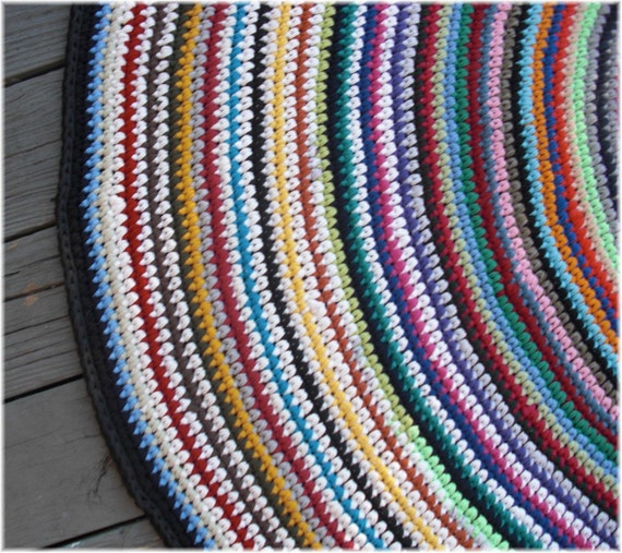 Eco Friendly Large Rag Rug Crocheted From By DebbieCrochets