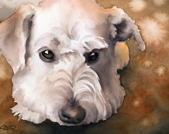 SCHNOODLE Art Print Signed by Watercolor Artist DJ Rogers