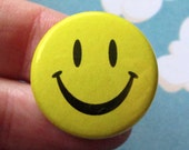 Smiley Face Button or Magnet