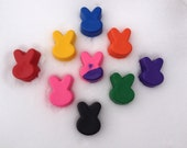 Recycled Easter Bunny Crayons  - Set of 6