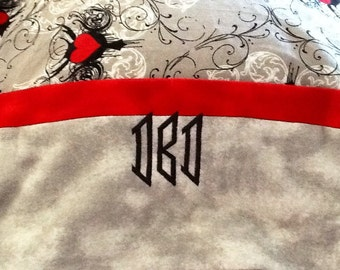 Pillow Case, Machine Embroidered Monogrammed or Personalized, Standard sized