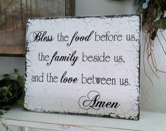 BLESSING SIGN, Kitchen Signs, Family Signs, Kitchen Decor, 10 x 12