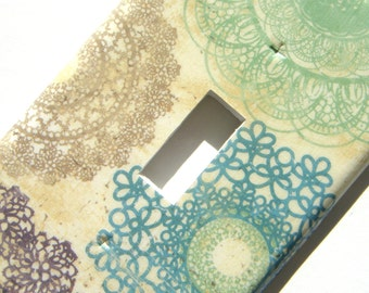 Light Switch Cover Switchplate -- Colorful Doilies