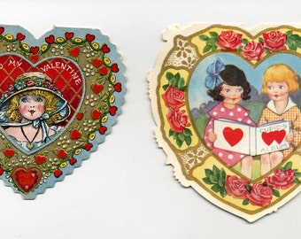 Pair Of Heart Shaped Valentines - Open Up
