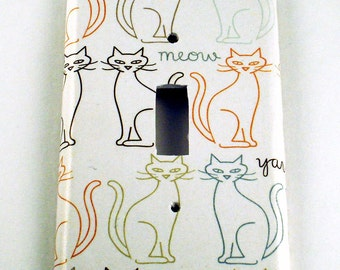 Light Switch Cover Switchplate  Wall Decor Light Switch Plate in  Here Kitty  (181S)