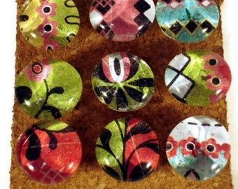 Funky Push Pins Decorative Thumb Tacks Cork Board Pins in  Urban Prairie (P11)