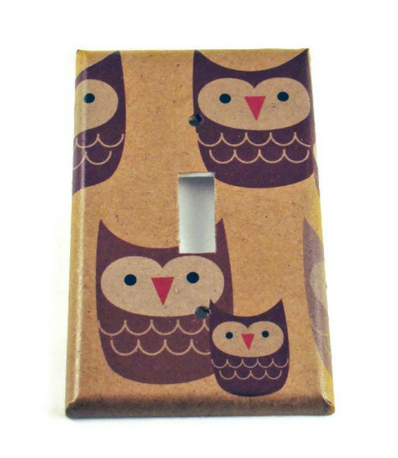 Switchplate Wall Decor  Light Switch Cover Switch Plate  in Sweet Owls (125S)