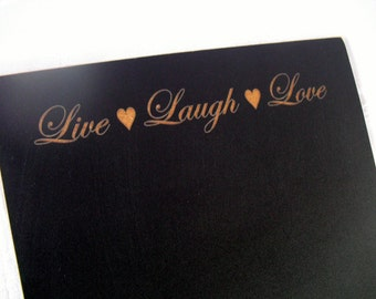 Wedding Chalkboard Sign - Live Laugh Love - Item 1497