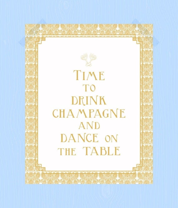 Quotes On School Time Table: Items Similar To Printable Time To Drink Champagne And