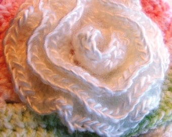 ROSE Flower Pattern - Easy Crochet Pattern for Single Rose - use for Hair, Scarf, Pin