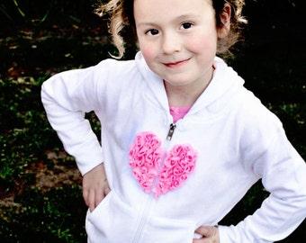 Toddler Girl Hoodie with Pockets Flower Girl Sweater sweatshirt Toddler jacket