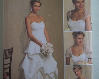 Wedding Dress Pattern Butterick 5184 Strapless Wedding Gown Sweetheart Neckline