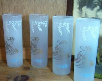 4  White Rock Soda Fairy Tumblers Ice Tea Tom Collins