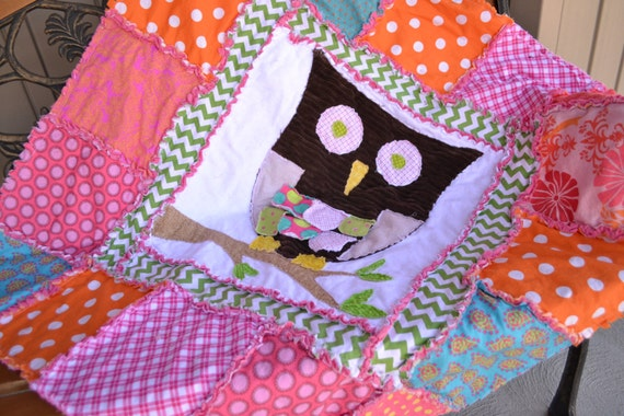 Pink Owl Quilt by A Vision to Remember