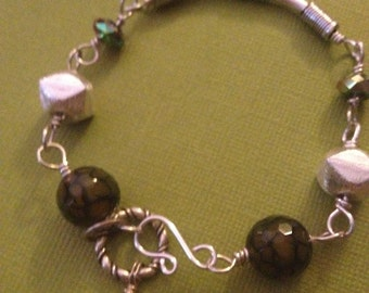 Totally Tubular Wirewrapped Bracelet