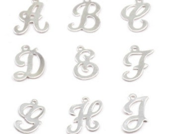Sterling Silver Script Letter