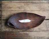 ON HOLD  vintage wooden leaf tray - littlebyrdvintage