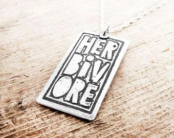 Herbivore necklace in silver