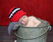 Newborn Baby Boy Hat Newborn Boy Hat Red Baby Hat Navy Blue White Baby Boy Clothes Baby Boy Gift Fourth of July 4th of July Patriotic Hat