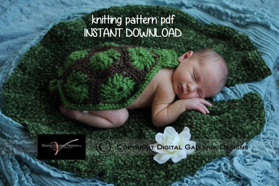 Lily Pad Photo Prop Knitting Pattern for Newborn Photography, PDF Number 113, INSTANT DOWNLOAD -- Over 16,000 patterns sold