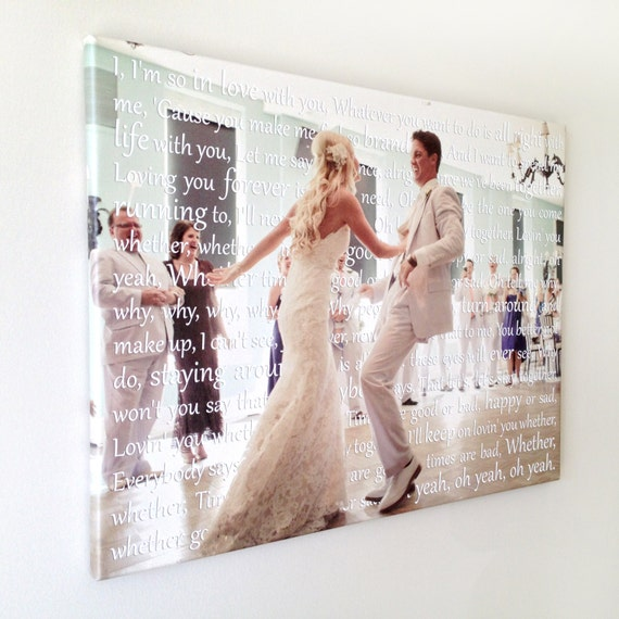 Wedding Vow Artwork: Spring Wedding Sign Canvas Art Personalized By
