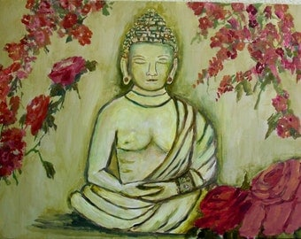 Buddha with Roses ( Print)