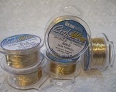24 gauge Non Tarnish Gold Beadsmith Copper Craft Wire 10 yards