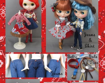 Blythe Doll Pattern for Cowgirl Outfits
