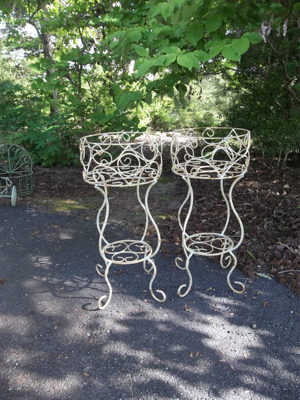 Vintage Garden Decor Wrought Iron Plant Stands Wedding