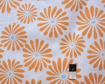 Annette Tatum AT58 Bohemian Bloom Orange Cotton Fabric 1 Yard