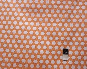 Annette Tatum AT61 Bohemian Clover Orange Cotton Fabric 1 Yard