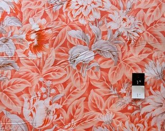 Verna Mosquera VOVN002 October Skies VOILE Foliage Peach Cotton Fabric 1 Yd