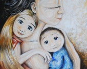 Divine Intervention - Archival 12x12 signed motherhood art print from an acrylic painting by Katie m. Berggren